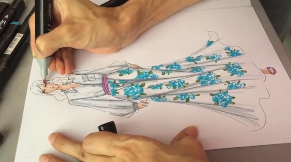 香港服装学院手绘视频