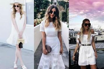 2017清新又浪漫的白色连衣裙